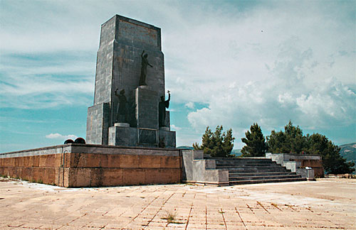 A Panhellenic Heroon (war memorial) of the 1821 Revolution view at Kalavryta KALAVRYTA (Small town) ACHAIA